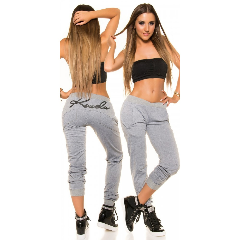 Vetement femme fashion jogging Koucla gris LAUREN
